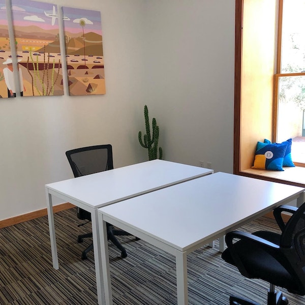 Hourly Private Corner Office w/ 6th Street View
