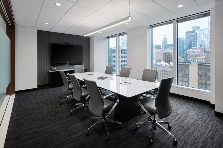 Contemporary Conference Room near CTA Lines