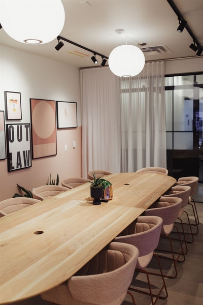 Pink Conference Room