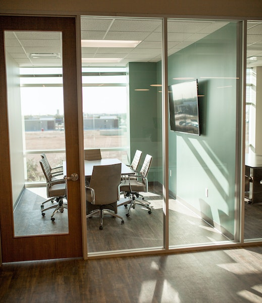 Private Meeting Room with Natural Light